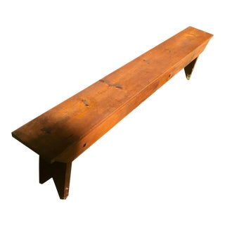 Farmhouse Rustic Primitive Style Hand Made Pine Bench For Sale
