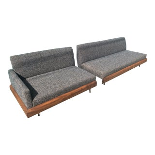Vintage Mid Century 2 Piece Adrian Pearsall Sofas - A Pair For Sale