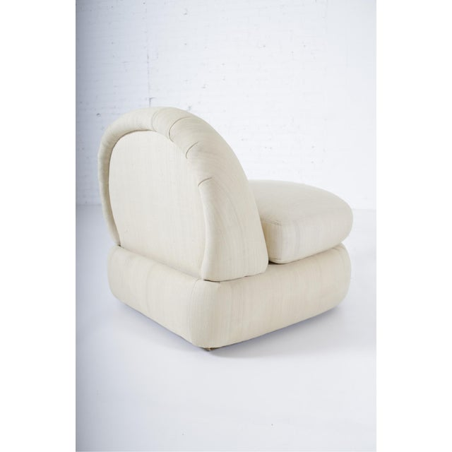 Contemporary 1970s Stacked Pouf Slipper Chairs - a Pair For Sale - Image 3 of 9