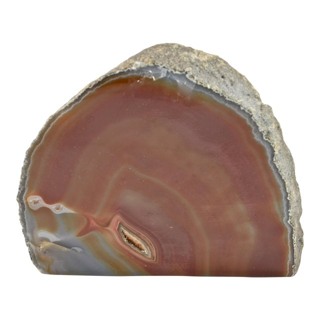 Natural Red Agate Free Standing Slab For Sale