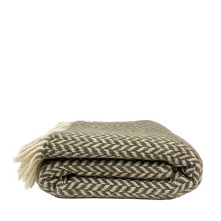 Boho Chic Pure Wool Throw Blanket For Sale
