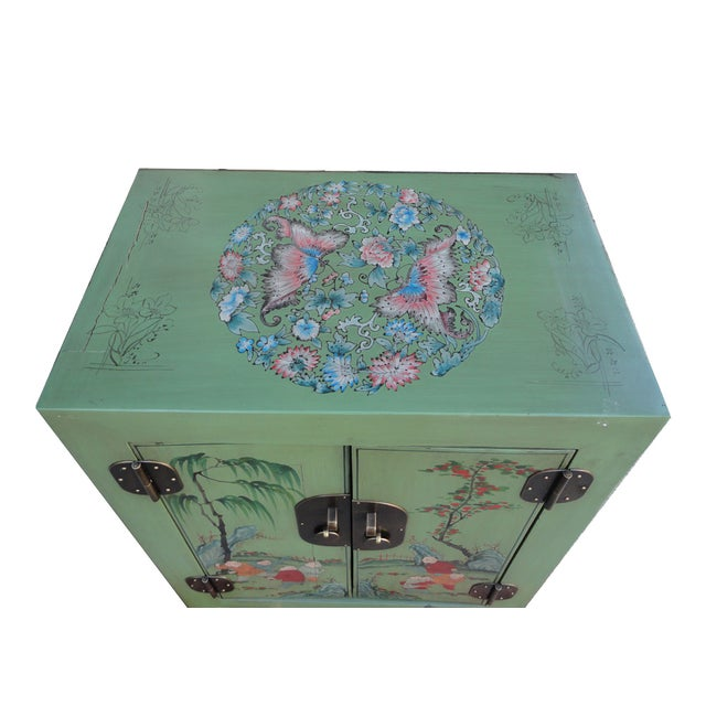 Petite Pastel Green Butterfly Top Nightstand - Image 7 of 7