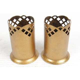 Vintage German Gilt Candle Holders - A Pair Preview
