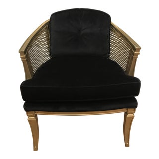 Vintage Neoclassical Velvet Chair For Sale