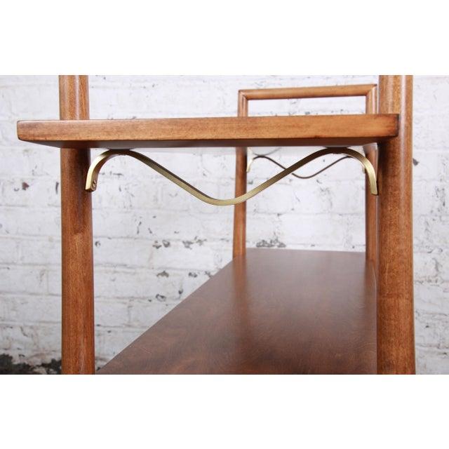 Robsjohn-Gibbings for Widdicomb Mid-Century Modern Maple and Brass Bookcase For Sale - Image 9 of 10
