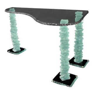 Modernist Sculptural Glass Table in Manner of Danny Lane For Sale