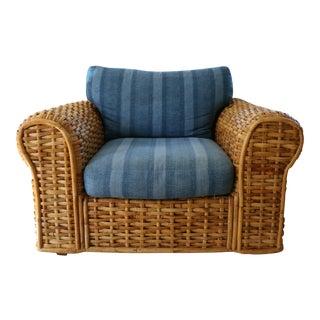 Woven Rattan Club Chair by Ralph Lauren