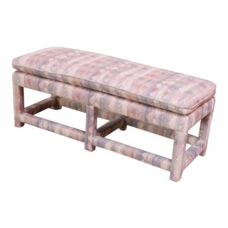 Mid-Century Parsons Bench Attributed to Milo Baughman For Sale
