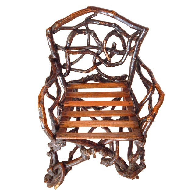 Wood Twig Chair For Sale - Image 7 of 10