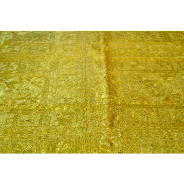 Green Sheesha Coverlet For Sale - Image 4 of 8