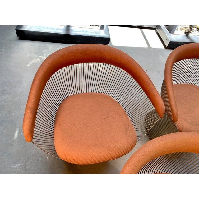 Metal 1960s Original Platner Arm Chairs for Knoll International - Set of Four For Sale - Image 7 of 12