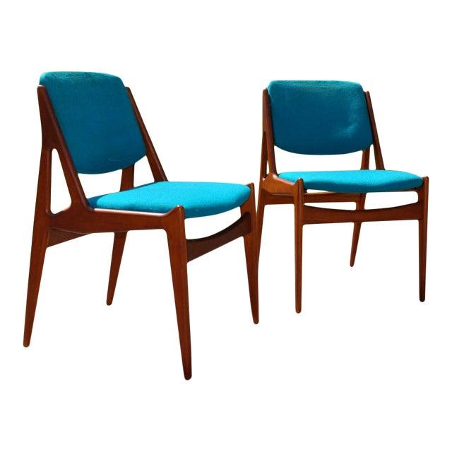 """One 1960s Vintage Arne Vodder Solid Teak Danish """"Ella"""" Chair For Sale"""