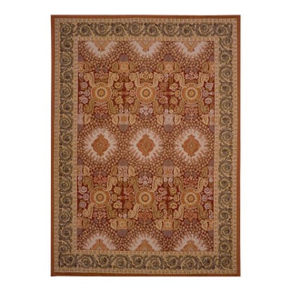 "Pasargad Aubusson Hand Woven Wool Rug - 12' 0"" X 18' 0"" For Sale"