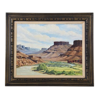 Jay F. Hennerer, Colorado River & Canyon Mesa Oil Painting