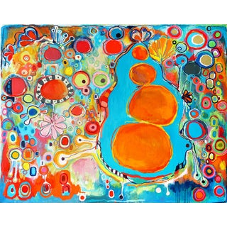 Clara Fialho Large Abstract Colorful Painting For Sale
