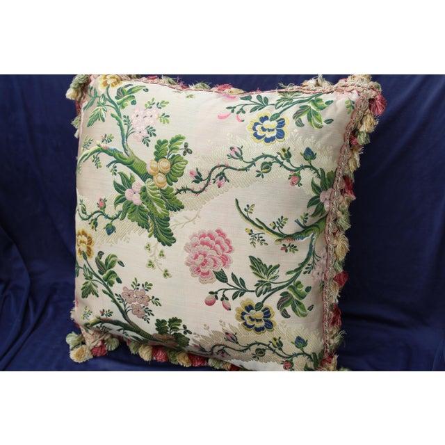 Italian Late 20th C. Italian Silk Velvet Scalamandre Pillow For Sale - Image 3 of 7