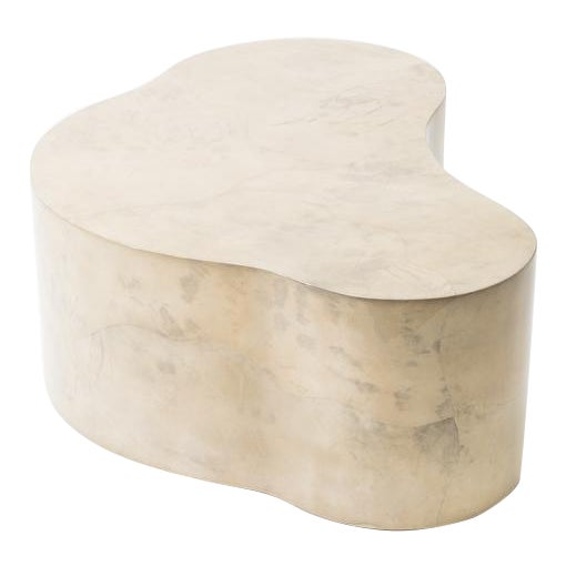 Lacquered Goatskin Free Form Low Table, Usa For Sale