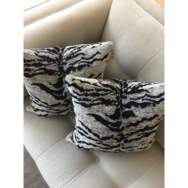Kravet Couture White Tiger Pillow in velvety couture chenille with pillow insert included. The pattern number is 32760 and...