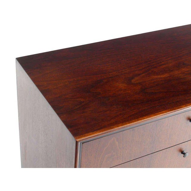 Early 20th Century Mid-Century Danish Modern Walnut Long Dresser Credenza For Sale - Image 5 of 10