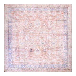 """Antique Indian Agra Cotton Rug 12'0"""" X 12'0"""" For Sale"""
