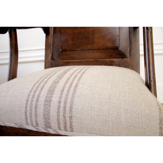 Pair of Fruitwood Carved and Upholstered Arm Chairs For Sale - Image 10 of 13