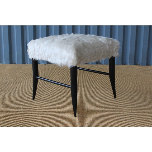 Mid-Century Modern Croft Stool in Cowhide by Hollywood at Home For Sale - Image 3 of 8