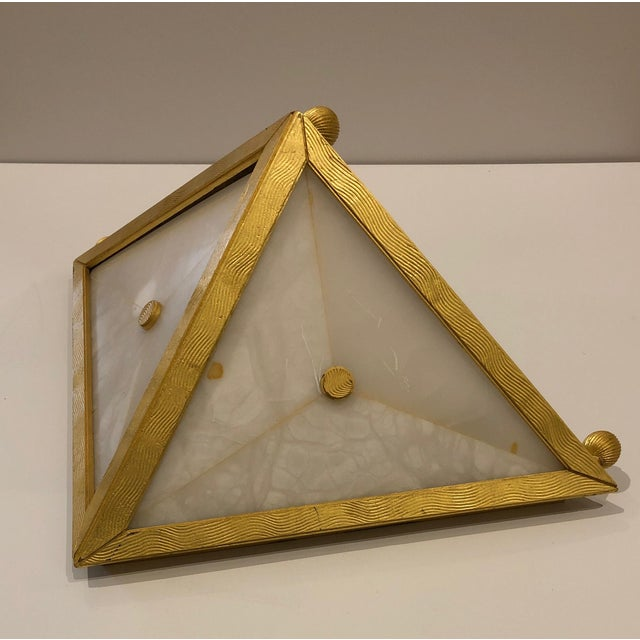 Gilt Bronze Triangular Sconces - Set of 4 For Sale - Image 11 of 11