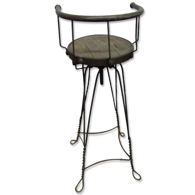 Unique Traditonal Industrial Cast Iron High Stool For Sale - Image 9 of 10
