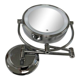 Lighted Wall Mounted Magnifying Mirror For Sale