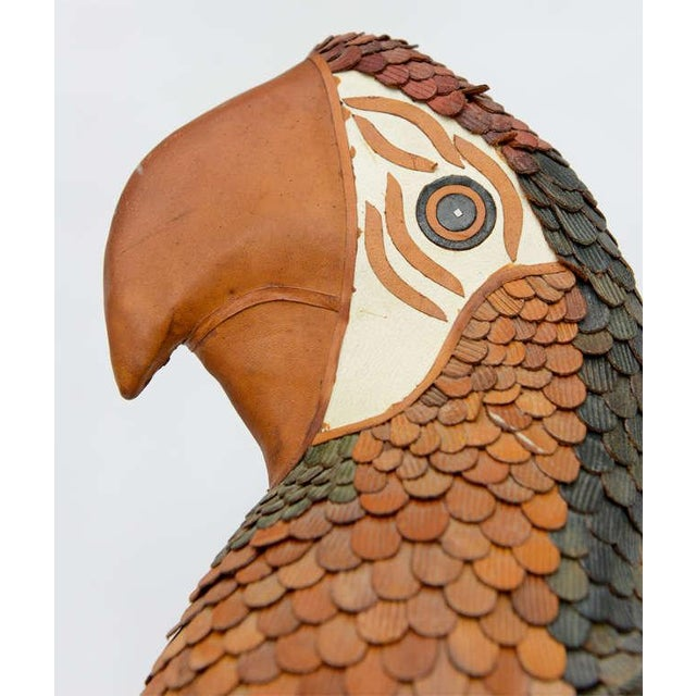 Brown Vintage Leather Parrot by Federico For Sale - Image 8 of 10