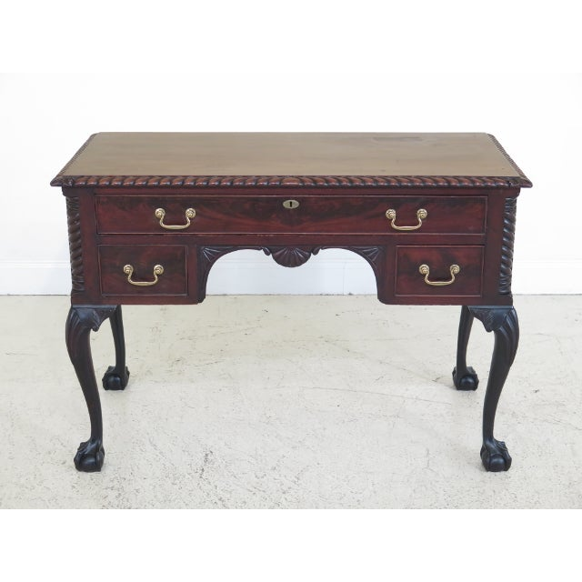 Chippendale Style Traditional Ball & Claw Mahogany Desk or Vanity For Sale - Image 13 of 13