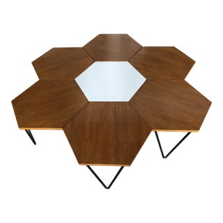 Isa Gio Ponti Wood and Iron Coffee/Side Tables - Set of 7 For Sale