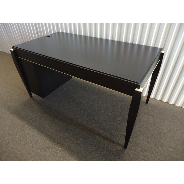 Gorgeous rare design table desk. Mid-century modern in style. Very high-end quality solid construction piece that were...