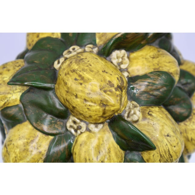 Gold Vintage Italian Floral Lemon Tree / Topiary For Sale - Image 8 of 13