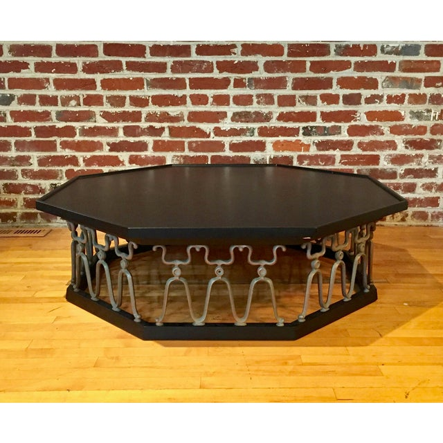 "Coffee table designed by John Van Koert for the ""Casa Del Sol"" collection by Drexel. Beautifully ebonized, this table has..."