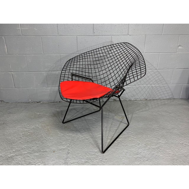 Harry Bertoia for Knoll Mid-Century Modern Diamond Chair With Red Seat C. 1952 For Sale - Image 11 of 13