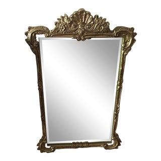 Vintage Regency Gilt Gold Beveled Mirror For Sale