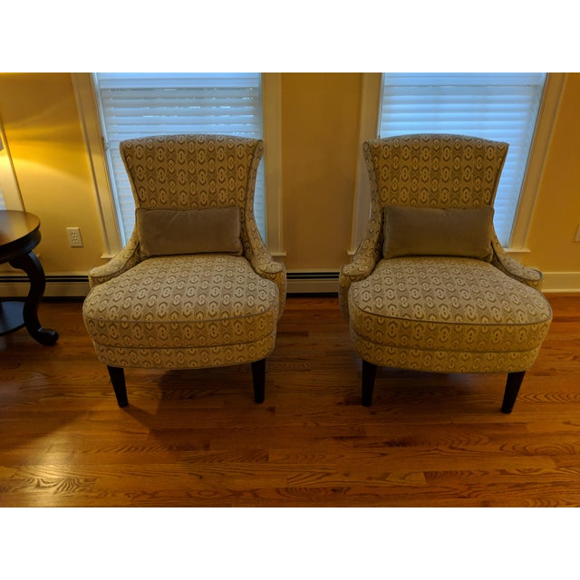 Art Deco-Inspired Accent Chairs by Thomasville - A Pair For Sale - Image 11 of 11