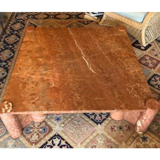 "Knoll International. Mid-century, vintage ""jumbo"" marble coffee table designed by Gae Aulenti. Italian Rosso alicante..."
