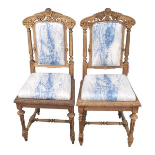 Vintage Turn of the Century Throne Chairs - A Pair
