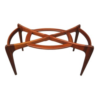 1960s Danish Modern Adrian Pearsall Walnut Sculpted Dining Table Base For Sale