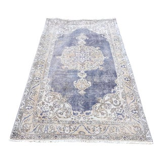 Turkish Handknotted Oushak Rug For Sale