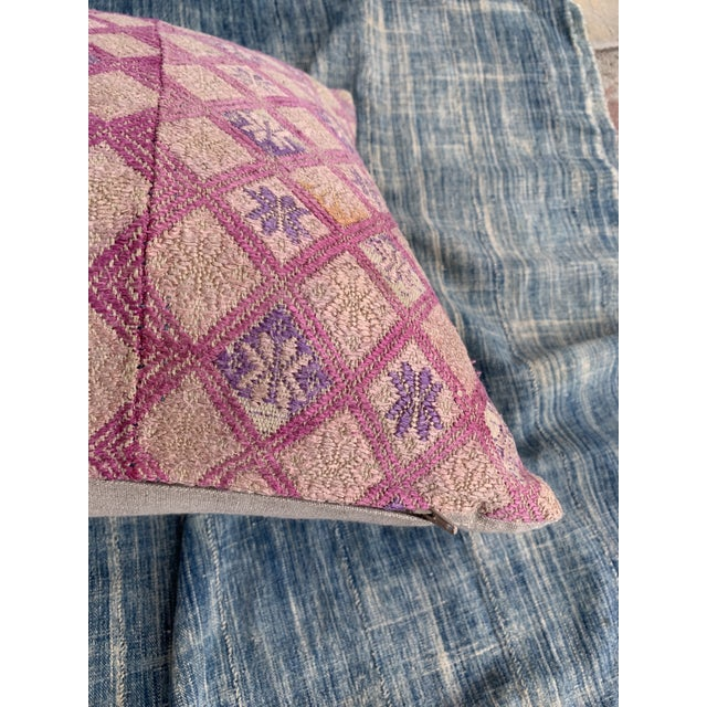 Antique Tribal Wedding Quilt Pillow For Sale - Image 9 of 11