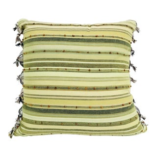Green-Striped Turkish Pillow