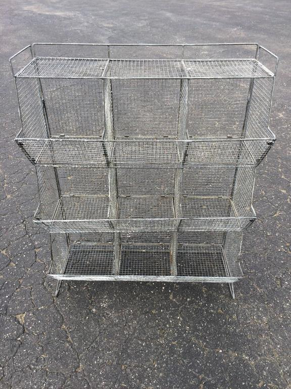 Industrial Style Wire Mesh Storage Bin   Image 3 Of 11