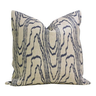 "20"" x 20"" Lee Jofa Groundworks Agate Slate Linen Pillow Cover For Sale"