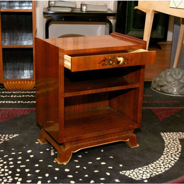 Wood Jules Leleu Pair of French Art Deco Side Tables For Sale - Image 7 of 9