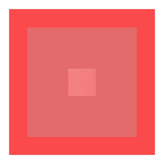 """Contemporary """"Color Study #18"""" Geometric Unframed Print For Sale - Image 3 of 3"""