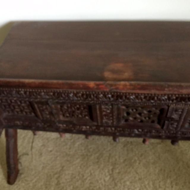 Antique Indian Wood Carved Sideboard - Image 9 of 10