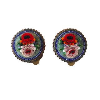 Vintage Italian Mosaic Earrings